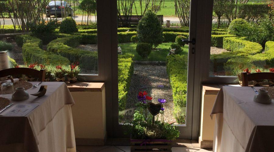 Hostaria da Ivan vista giardino