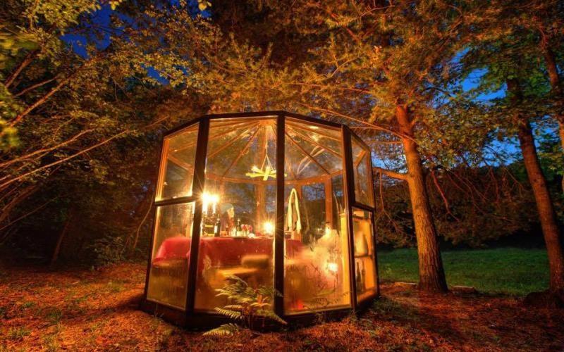 casanuova glasshouse cena nel bosco
