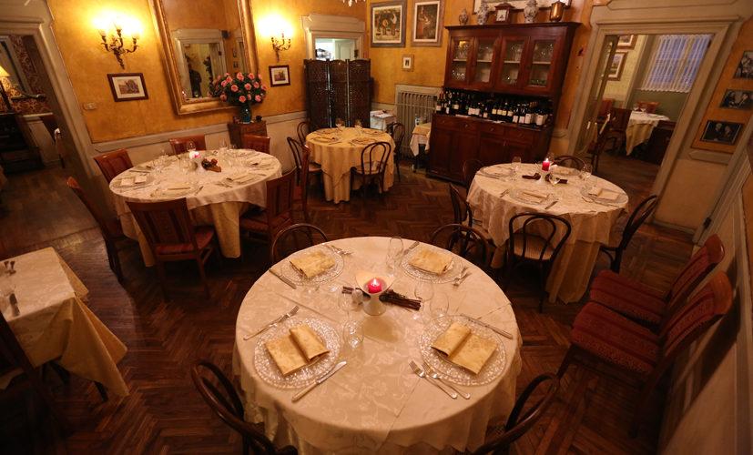 La Filoma sala interna tavoli