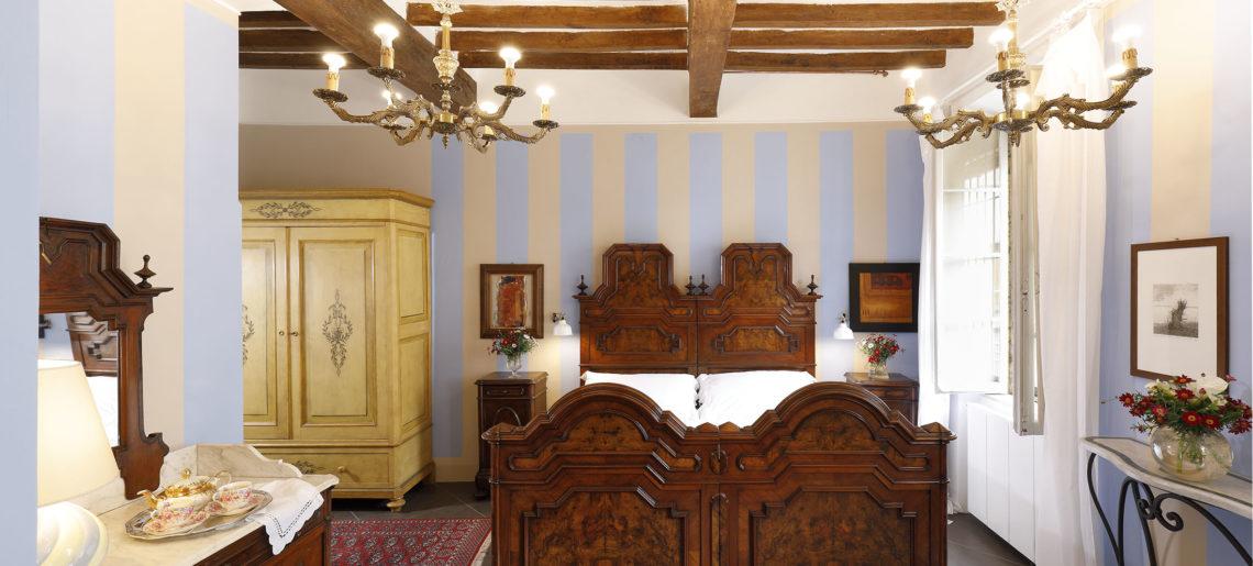 La terrazza sul duomo camera matrimoniale azzurro letto