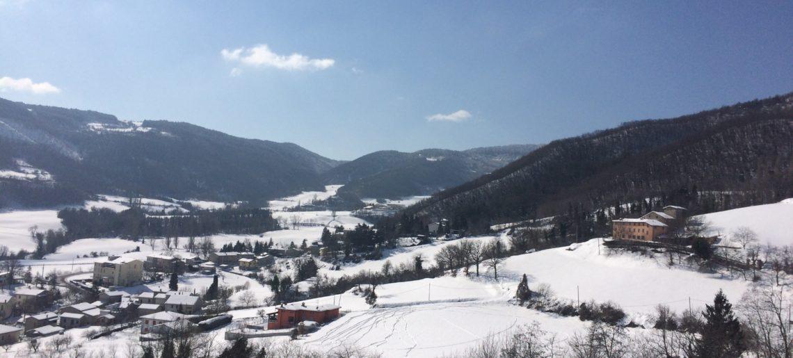 Basagni Chiara paessaggio con neve